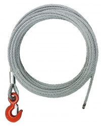 Rope for wire rope winch